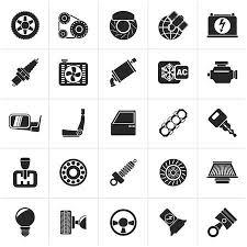 auto parts clip art. Contemporary Art Black Car Parts And Services Icons  Icon Set Illustration On Auto Parts Clip Art O
