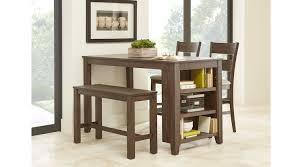 Wooden furniture for kitchen Teak Wood Mellow Morning Brown Pc Kitchen Island Counter Height Dining Set Rooms To Go Dining Room Sets Suites Furniture Collections