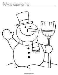 Small Picture My snowman is Coloring Page Twisty Noodle