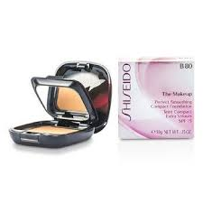 shiseido face care 0 35 oz the makeup perfect smoothing pact foundation spf 15 case