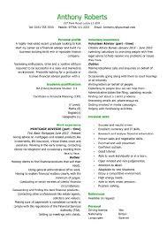 Marketing Resume Template Impressive Graduate Financial Advisor Cv Template Student Room Mysticskingdom