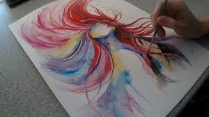 Crazy Painting Crazy Hair Speed Painting By Fiona Clarkecom Youtube