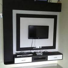 white wall mounted pvc tv cabinet