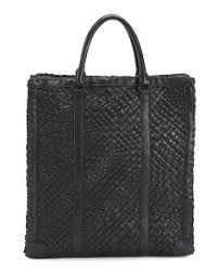 Made In Italy Woven Leather Tote ...