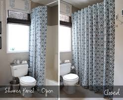 how to make any curtain into a shower curtain no sewing involved clever
