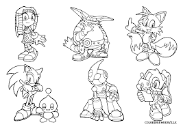Small Picture and sonic printable coloring pages