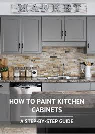 Floor Tile Paint For Kitchens How To Paint Kitchen Cabinets Stone Backsplash Cabinets And Signs