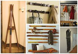 Vintage Ski Coat Rack Old Skis Repurposed into Coat Hanger Gift Ideas Creative Spotting 17