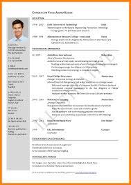9 Curriculum Vitae Model Pdf Hr Cover Letter
