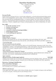 resume profile for customer service customer service resume template
