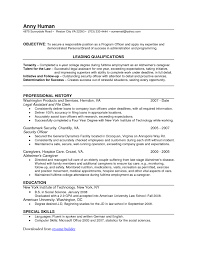 Attendance Officer Sample Resume Ideas Of Free Resume Templates Wordpad Template Simple Format In On 5