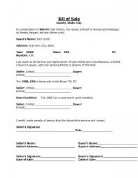 Bill Of Sale Template Nc Also Sample Bill Sale For Used Car Canada ...
