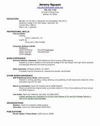 Resume Template For High School Student Resume Template for High School Student with No Work Experience 49