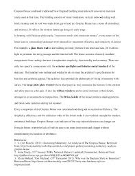 gropius house analysis essay