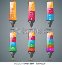 abstract marker drawing 3d infographics csp47588647