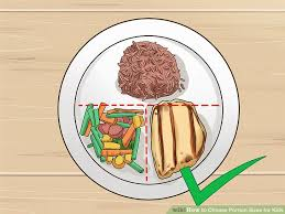 Meal Portion Chart 3 Ways To Choose Portion Sizes For Kids Wikihow