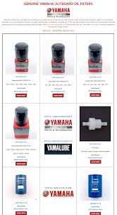 Yamaha Oil Filter Chart Yamaha Outboard Oil Filters Selection Chart Partsvu