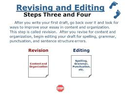 steps in writing an essay ppt video online 6 revising