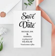 Save The Date Template Save The Date Printable Save The