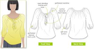 Blouse Sewing Pattern Simple StyleArc Katherine Blouse