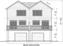 house side elevation view for d 522 duplex house plans d 522