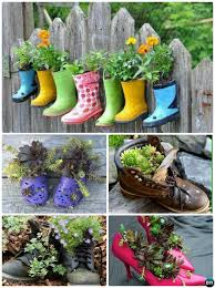 diy heel boots shoe planter instructions 20 diy upcycled container gardening planters projects diyhowto