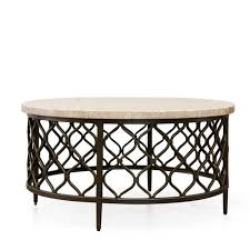 rockvale stone top round coffee table by greyson living for