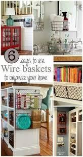 Hanging wire basket kitchen