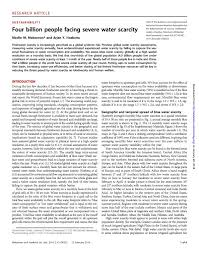 "the best water scarcity ideas access to clean  mekonnen m m and a hoekstra 2016 ""four billion people facing"
