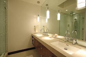 double pendant lighting. Model Floating Double Vanity Bathroom Midcentury With Modern Pendant Light Brown Mirrors, Being Lighting G