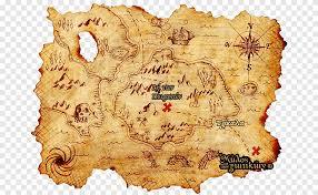 Treasure map Treasure Island Buried treasure, map, piracy, map png | PNGEgg