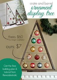 diy crate and barrel ornament display tree