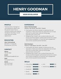 Dark Blue Professional Resume