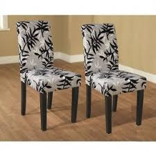 fabric needed for dining room chairs. these elegant parson chairs (set of 2) in black and silver can change the fabric needed for dining room