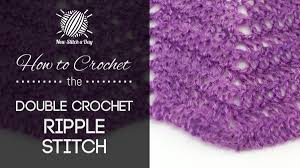 Double Crochet Chevron Pattern Extraordinary The Classic Double Crochet Ripple Stitch Crochet Stitch 48