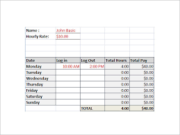 weekly time card weekly timesheet template free download
