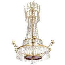 antique baltic crystal chandelier early 19th century