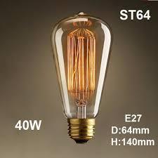 Retro Vintage 40w Edison Light Bulb E27 110v 220v Lamp Industrial