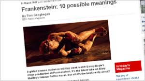 readers new meanings for frankenstein news