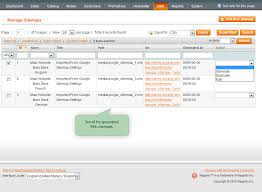 include cms pages and s add any extra links include images in the sitemap set max item quany per file