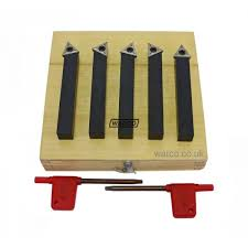 lathe tools. indexable lathe tools - 5 piece set