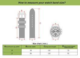 Watch Band Width Size Chart This Is The Only Suede Design Leather Strap In Store So If