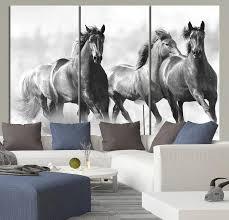 large wall art running wild horses canvas print 3 panel large horse canvas art print on wild horses wall art with large wall art running wild horses canvas print 3 panel large