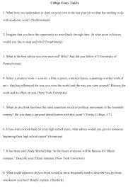 sample college essay topics cover letter college essay topic examples college essay topic