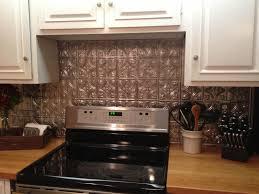 Kitchen Backsplash Tin Cool Diy Faux Tin Kitchen Backsplash With Vase Top 12 Faux Tin