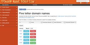 domain name generator domainnamesoup
