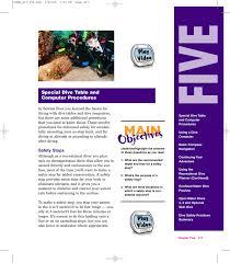 Padi Dive Chart Pdf Padi Open Water Diver Course Chapter Five Manualzz Com