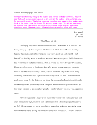 autobiography essay example for college autobiography essays and papers