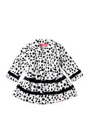 image of widgeon inset stripe dalmatian print coat toddler girls