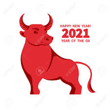 Ox Is A Symbol Of The 2021 Chinese New Year. Holiday Vector Illustration..  Royalty Free Cliparts, Vectors, And Stock Illustration. Image 151062656.